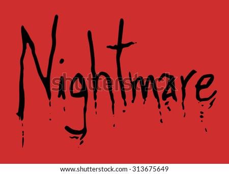 nightmare symbol - stock vector