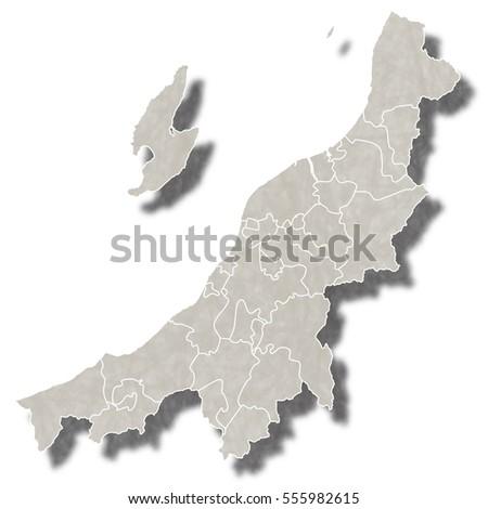 Niigata Japan Stock Images RoyaltyFree Images Vectors - Japan map niigata