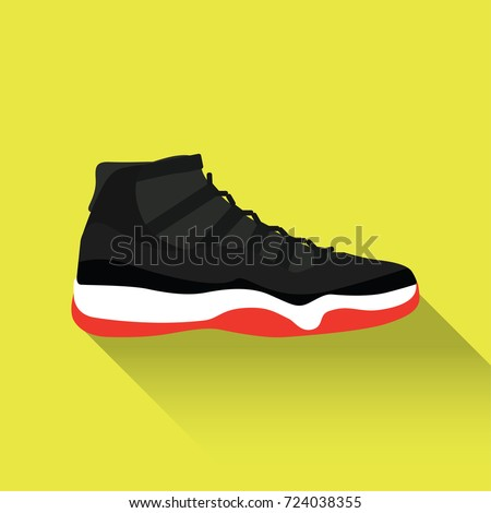 Nike Air Jordan 11. Vector drawn sport shoes, sneakers for summer. Vector  stock