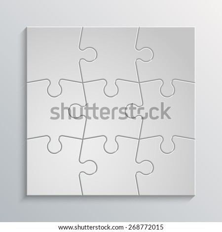 Nine puzzle presentation. puzzle icon eps10, puzzle icon illustration, puzzle icon picture, puzzle icon flat, puzzle web icon, puzzle icon art, puzzle icon drawing, puzzle icon, puzzle icon vector - stock vector