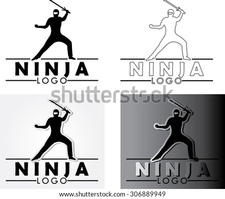 Ninja Fighter - Vector Illustration. Vinyl-ready. Stock ... |Ninja Wrestling Logo