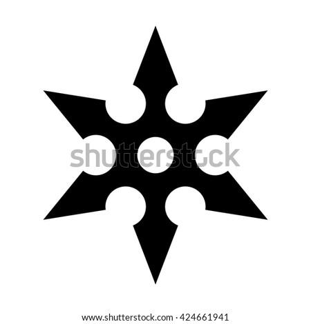 Ninja Shuriken Throwing Star Flat Icon Stock Vector 424661941 ...