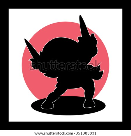ninja silhouette red fox - photo #6
