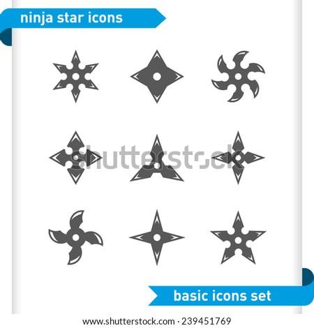 Ninja Stars Canada Ninja Stars Icons Set