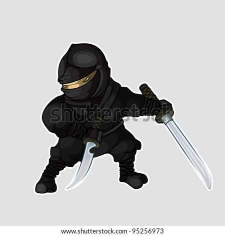 Ninja with two swords