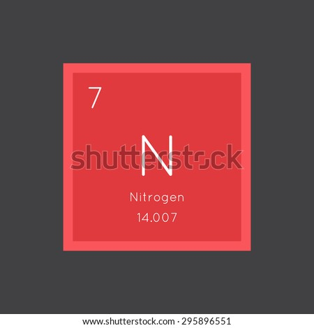 Nitrogen Simple Style Tile Icon Chemical Stock Vector 295896551