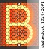 "Nixie tube indicator. Letter ""B"" from retro, Transparency guaranteed. Vector illustration. - stock photo"