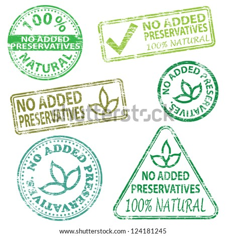 No added preservatives  Rubber stamp vector illustrations - stock vector