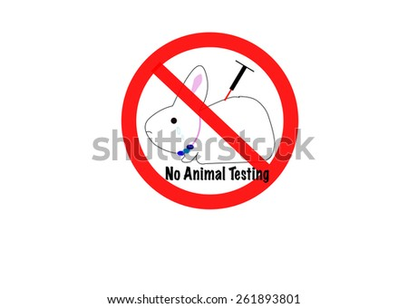 No animal testing sign icon - stock vector