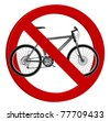 no bicycle sign - stock vector
