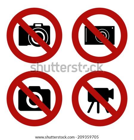 No Camera Sign - stock vector