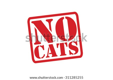 NO CATS red Rubber Stamp Vector over a white background. - stock vector