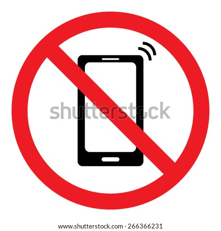 No Cell Phone Sign. Put Phones on Vibration.