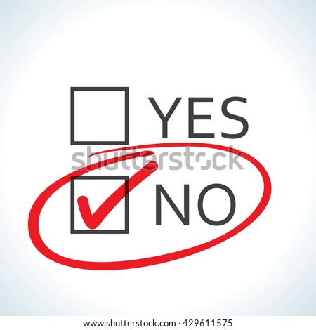 No checked with red marker line - stock vector