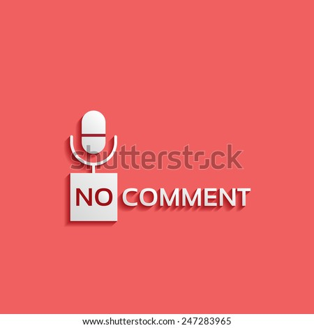 no comment-vector sign, microphone icon - stock vector