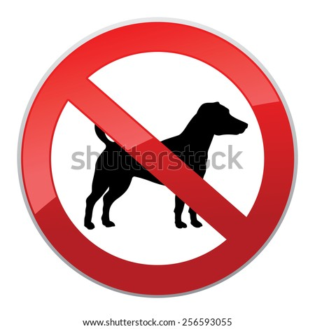 No dog sign. Dog walking forbidden symbol. - stock vector