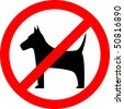 No dogs sign, vector - stock vector