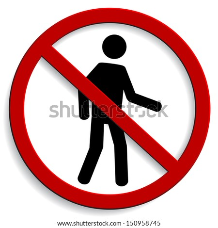 No entry sign  - stock vector