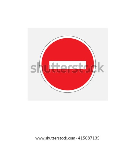 No entry sign, destroyed concept, vector illustration.  - stock vector