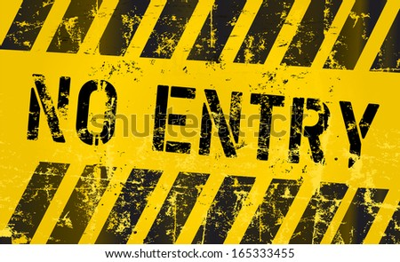 No entry sign, vector Illustration