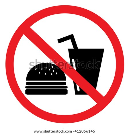 No food or drinks allowed - stock vector