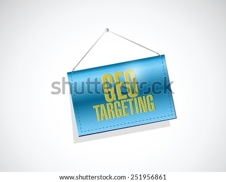 no geo targeting selection. illustration design over a white background - stock vector