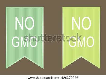 No gmo elements set. vector green image. - stock vector