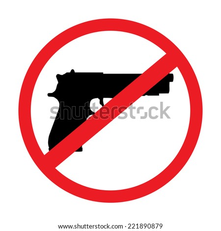 no gun sign - isolated illustration - stock vector