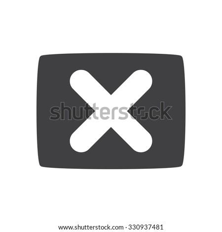 no icon. gray icon. eps 10. - stock vector