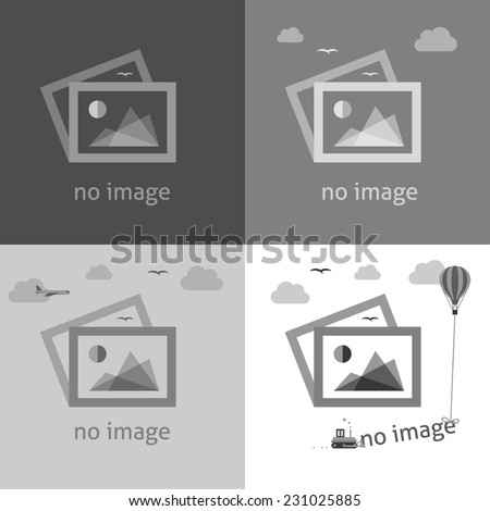 No image creative signs in grayscale. Internet web icon to indicate the absence of image until it will be downloaded. - stock vector