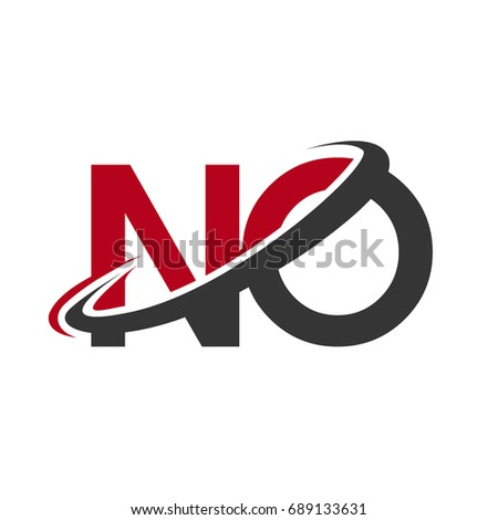 No Initial Logo Company Name Colored Stock Vector 2018 689133631