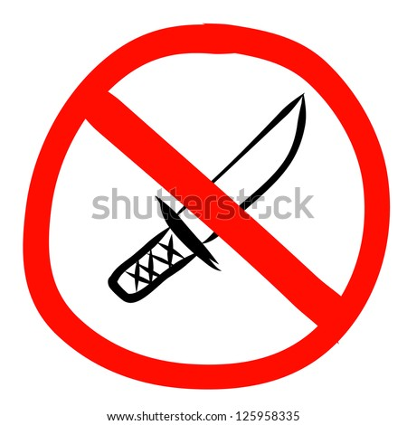 No knife sign