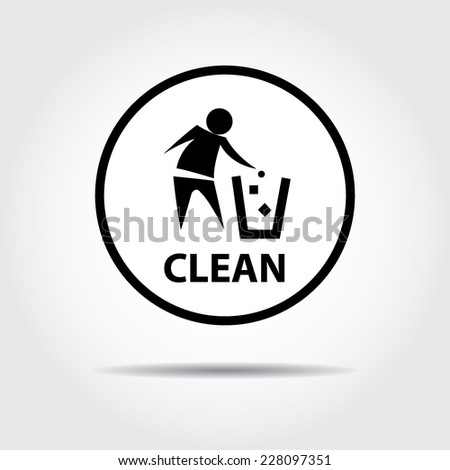 No littering, keep clean sign. - stock vector