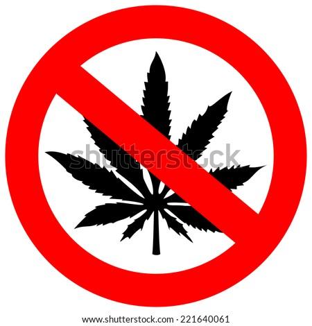 No marijuana sign - stock vector
