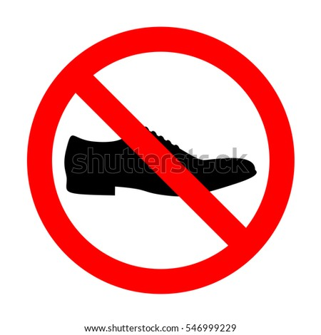 No Men Shoes sign.