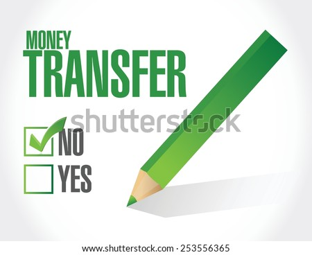no money transfer check mark illustration design over a white background