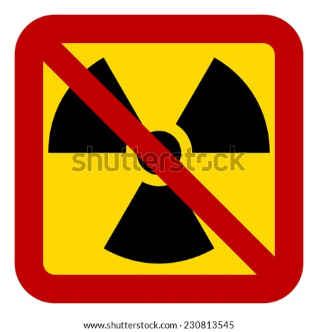 No nuclear weapons sign on white background. Vector illustration. - stock vector