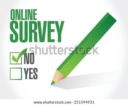 no online survey illustration design over a white background - stock vector