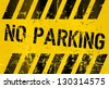 no parking, prohibition sign, vector - stock vector