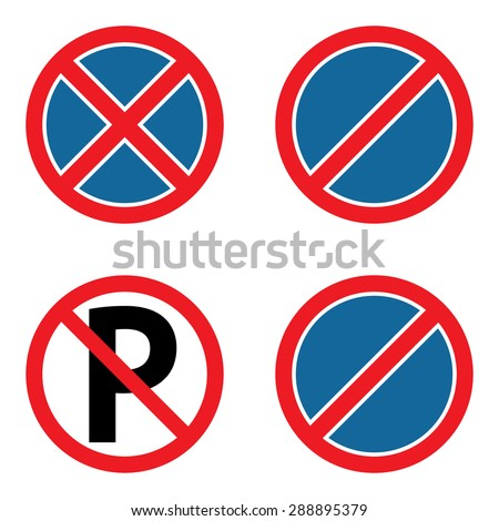 No parking sign set - stock vector