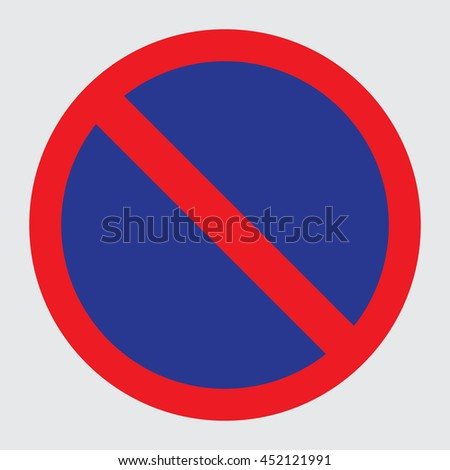 No Parking Traffic sign on white background - stock vector