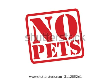 NO PETS red Rubber Stamp Vector over a white background. - stock vector