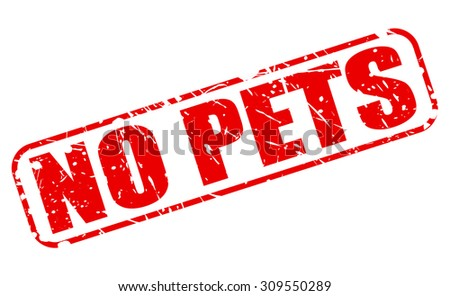No pets red stamp text on white - stock vector