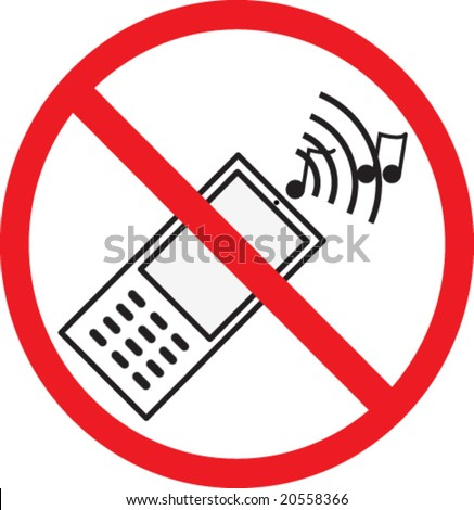 no phone allowed sign. vector - stock vector