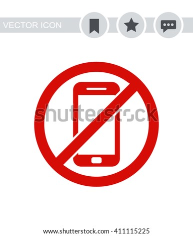 No phone Icon. No phone Icon Vector. No phone Icon Sign. No phone Icon Picture. No phone Icon Image. No phone Icon Illustration. No phone Icon JPEG. No phone Icon EPS10. No phone Icon Logo. - stock vector