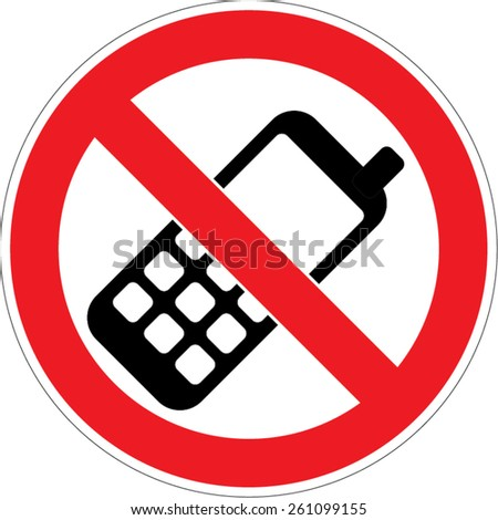 No phone vector sign old mobile - stock vector