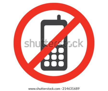 No Phones - stock vector