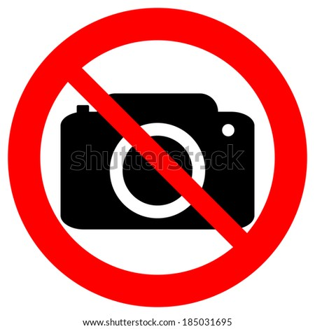 No photo camera vector sign isolated on white background. - stock vector