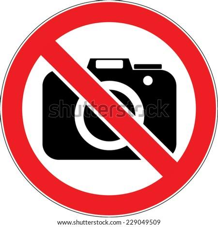 No Photo / No Photography sign vector - stock vector
