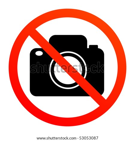 No photography sign, vector illustration - stock vector